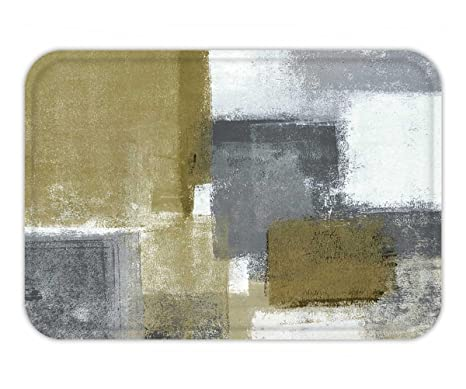 Outstanding Amazon Com Beshowere Doormat Neutral Abstract Art Painting Complete Home Design Collection Epsylindsey Bellcom
