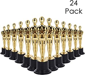 LAWEI 24 Pack Gold Award Trophy - 6 inch Oscar Style Trophies Award Ceremony's, Party