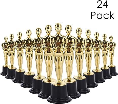 Lawei 24 unidades de trofeos de premio de oro – 6 pulgadas estilo Oscar Trofeos, ceremonia de premio, fiesta: Amazon.es: Deportes y aire libre