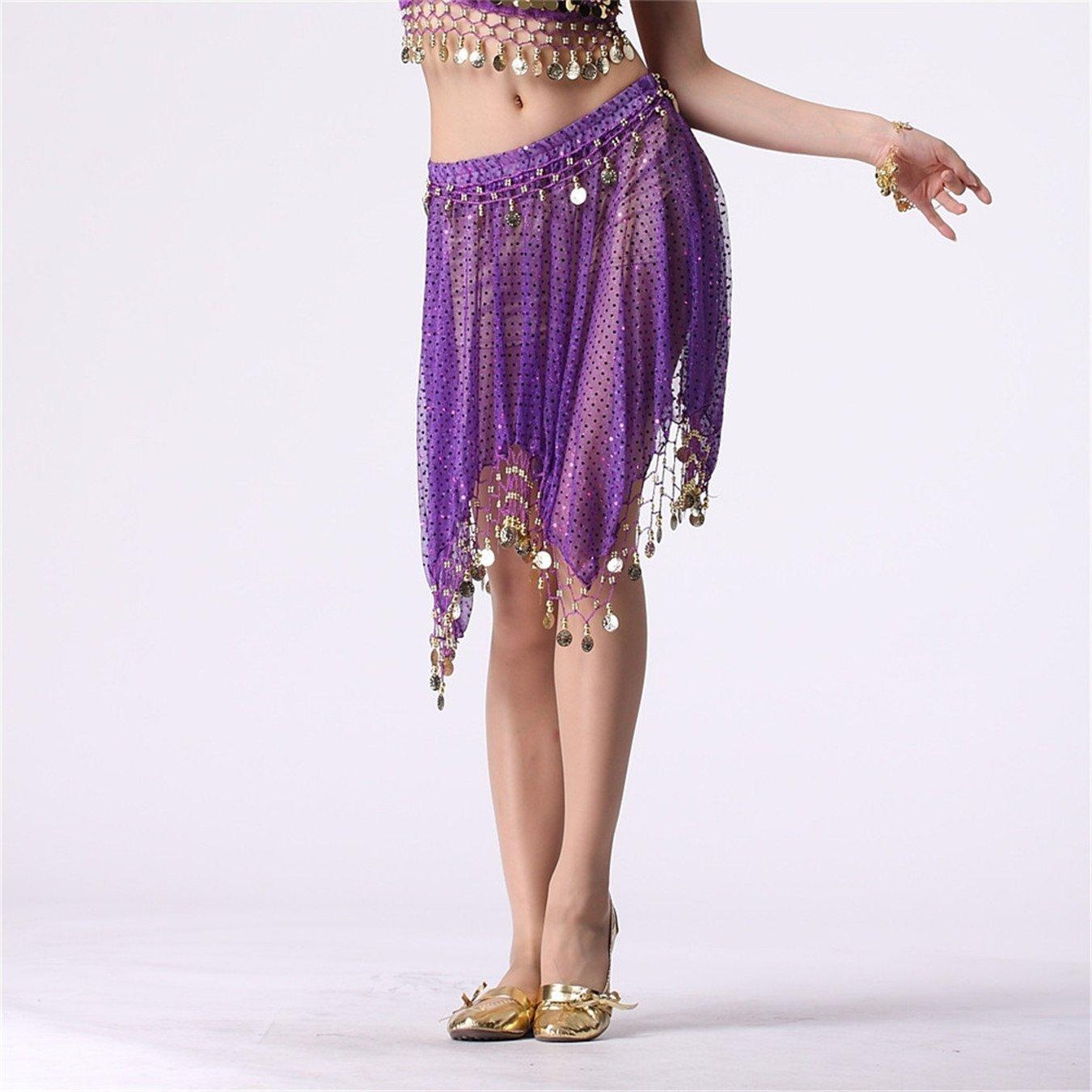 Para mujer falda danza del vientre tribal con Cions brillante ...