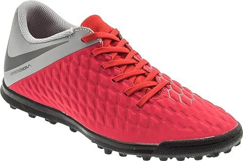 e1799561b Nike Men s Hypervenom 3 Club TF LT Crimson MTLC Dark Grey Football Shoes ( AJ3811