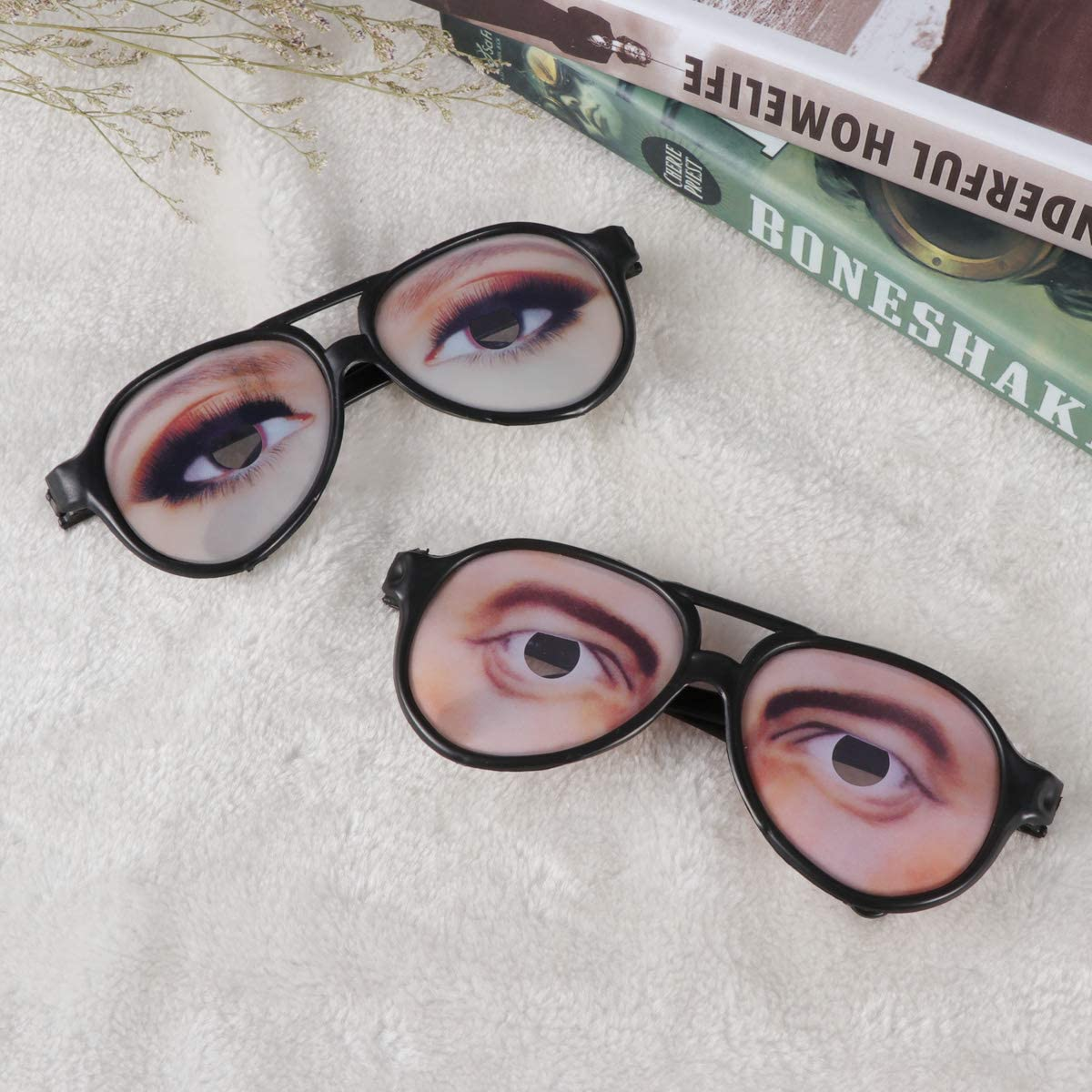 TINKSKY Halloween Trick Toy Male Funny Eyes Glasses Prank Disguise Eyeglass Party Props for Men