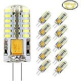 10 x G4 Ampoule LED, Jpodream 3.5W 48*3014 SMD LED Lampe, Blanc Froid 6000K, 35W Ampoule Halogène équivalen, 300 LM, 360° Faisceaux, AC / DC 12V