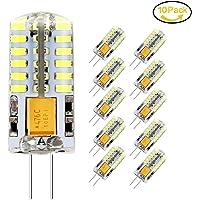 Ampoule LED G4, Jpodream 3W 48*3014 SMD Ampoules Économie D'énergie, 300 LM, 30W Ampoule Halogène équivalente, Blanc Froid 6000K, AC / DC 12V, 360° Angle de Faisceaux - Pack de 10