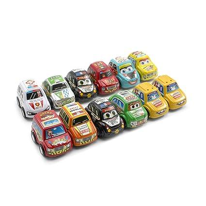 Amazon.com: 12pcs bebé niños Mini Super correr juguete de ...