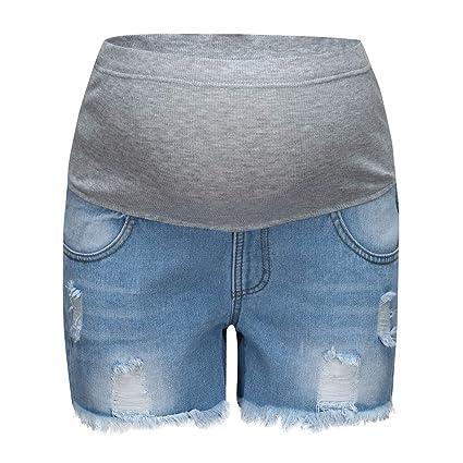 WNuanjun Seguridad Pantalones Cortos para el Embarazo ...