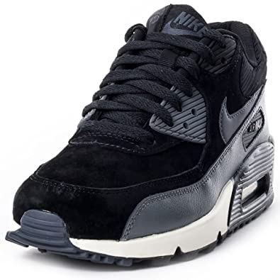 e28b13b5ae Nike Air Max 90 Leather Women Schuhe black-metallic hematite-dark grey-sail  - 36: Amazon.co.uk: Shoes & Bags
