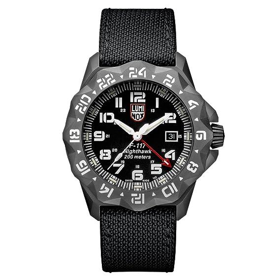 Reloj de cuarzo Luminox Air F-117 Nighthawk, 44mm, 20 atm, PVD, Negro, XA.6421: Amazon.es: Relojes
