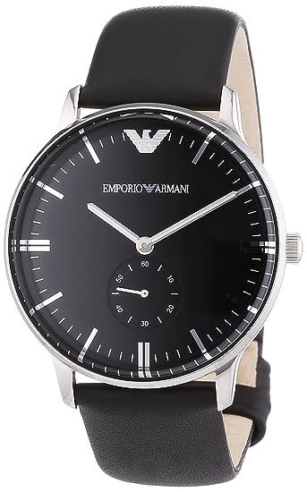 Emporio Armani Reloj Analógico para Unisex Adultos de Cuarzo con Correa en Cuero AR0382: Amazon.es: Relojes