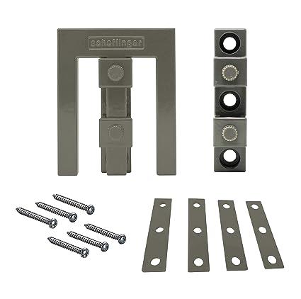 Scheffinger EM3 - Embellecedor adicional para asegurar ventanas y puertas de hoja doble sin barra central