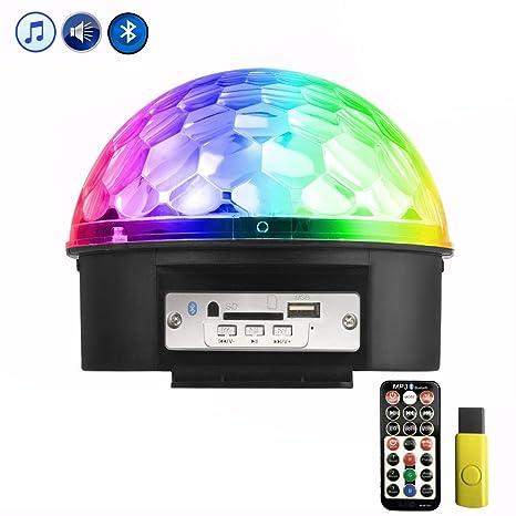 Zunbo Disco Ball LED Partylight Disco Light 9 colores Proyector de ...