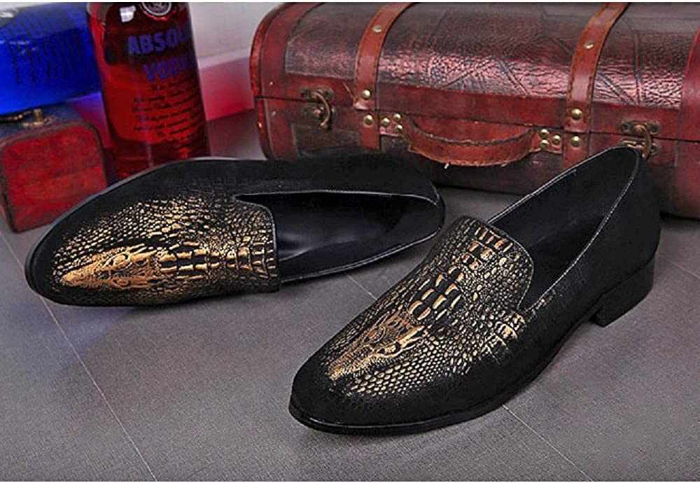 Cover Plus 2 Color Size 5-12 Genuine Leather Slip On Loafers Mens Dress Shoes