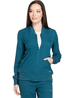 5ad0034d6b1 Dickies Dynamix DK330 Women's Zip Front Warm-Up Solid Scrub Jacket