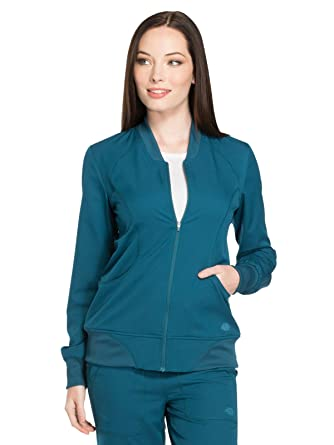 e9b12cdd67a Amazon.com: Dickies Dynamix DK330 Women's Zip Front Warm-Up Solid ...