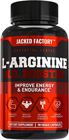 L Arginine 1500mg Patented Nitrosigine - Extra Strength L-Arginine Nitric Oxide (NO) Booster Pre Workout Supplement for Muscle Growth, Pumps, Vascularity, Energy - 90 Veggie Pills