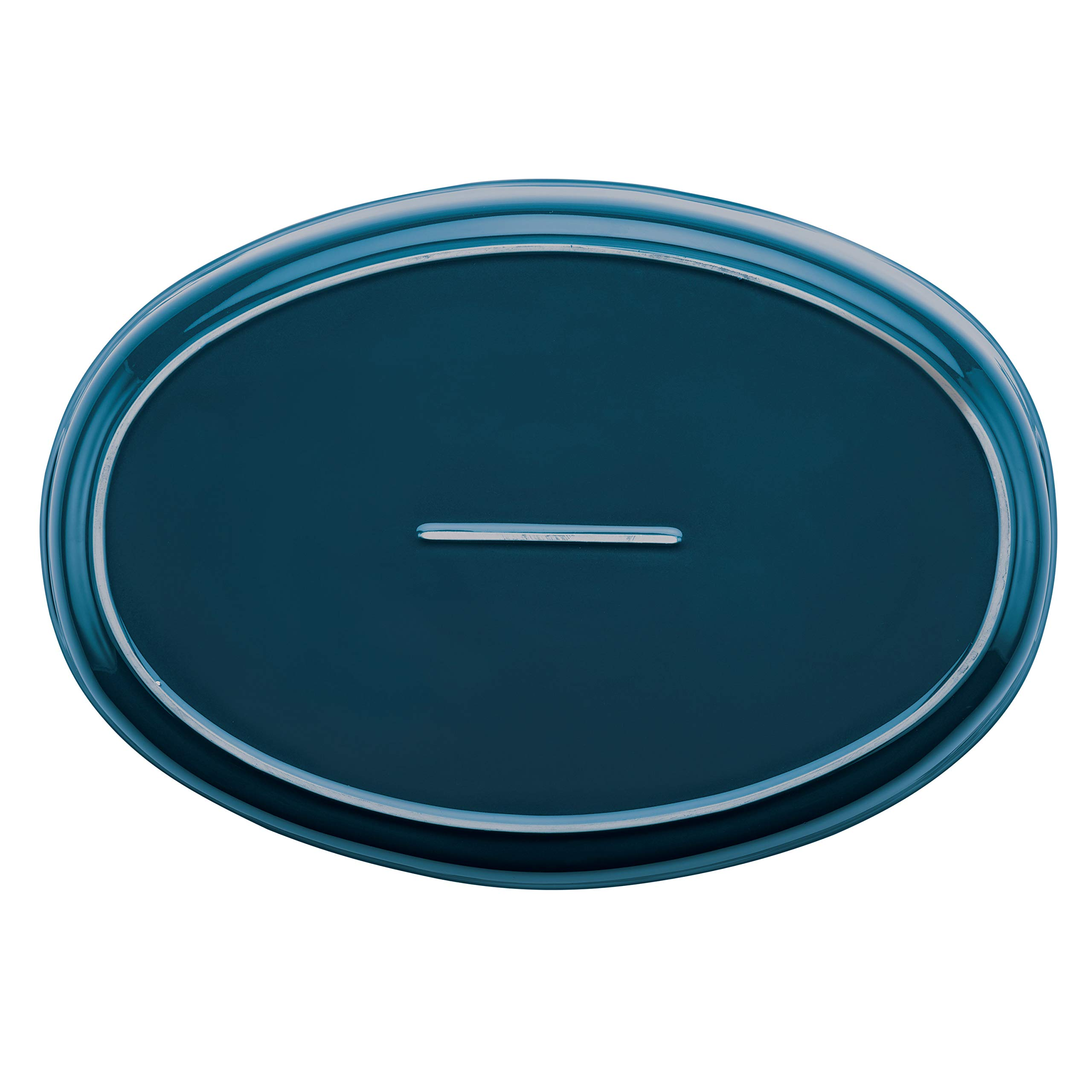 Rachael Ray Ceramics Bubble and Brown Oval Baker Set, 2-Piece, Marine Blue by Rachael Ray (Image #3)