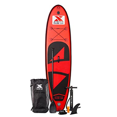 XTERRA Boards 10' Inflatable Stand Up Paddle Board Premium SUP & Accessories Bundle   Includes Paddleboard (6  Thick), Pump, Adjustable Paddle, Easy-Carry Backpack, Ankle Leash, and Repair Kit