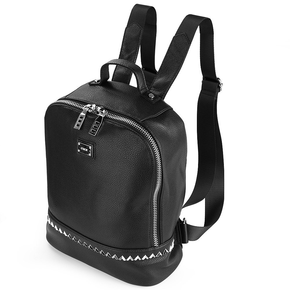 女性カジュアル本革バックパックデイパックサッチェルショルダー旅行バッグ   B07DVFD6GY