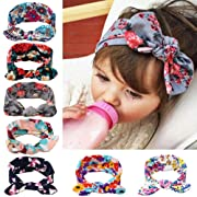 Itaar Baby's Headband Hair Bands Set floral headwear with Cute Rabbit Ear - 7PCS