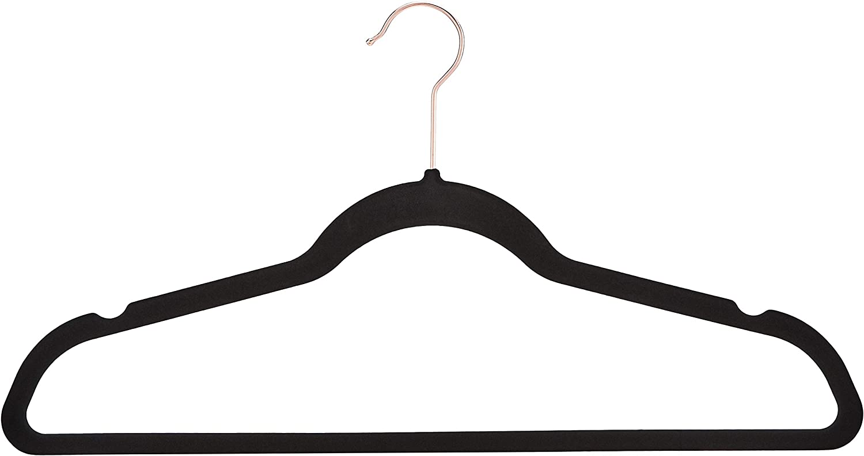 Basics Perchas de terciopelo para trajes 30 unidades color morado