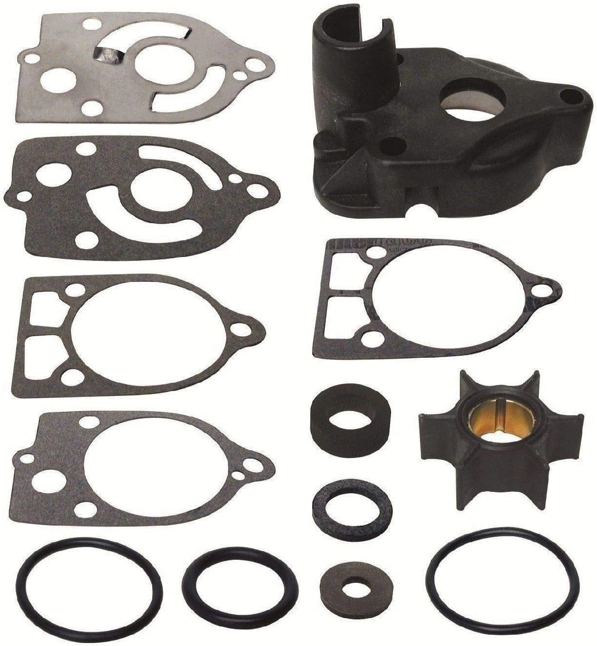 GLM Water Pump Impeller Kit for Mercury 35, 40, 45, 50, 60, 65, 70 hp, Replaces 46-60366A1, 18-3507 Please Read Product Description for Exact Applications