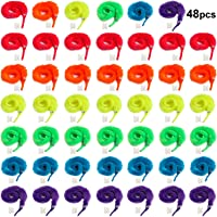 Tanlee 48 Pieces Magic Magic Wiggly Twisty Fuzzy Worm Magic Worm Toys for Party Supplies, Random Color (48 Pieces)