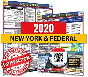 2020 New York State & Federal Labor Law Poster for Workplace Compliance