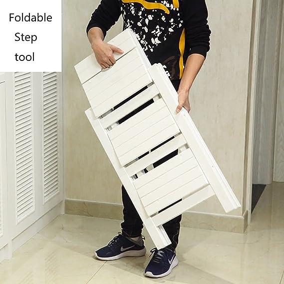 Amazon.com: Wooden Folding Stepladder Wood Folding Step ...