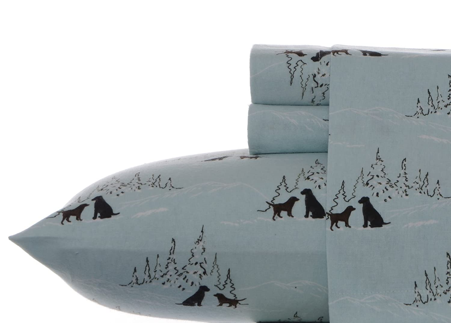 Eddie Bauer Dog Friends Flannel Sheet Set, Full