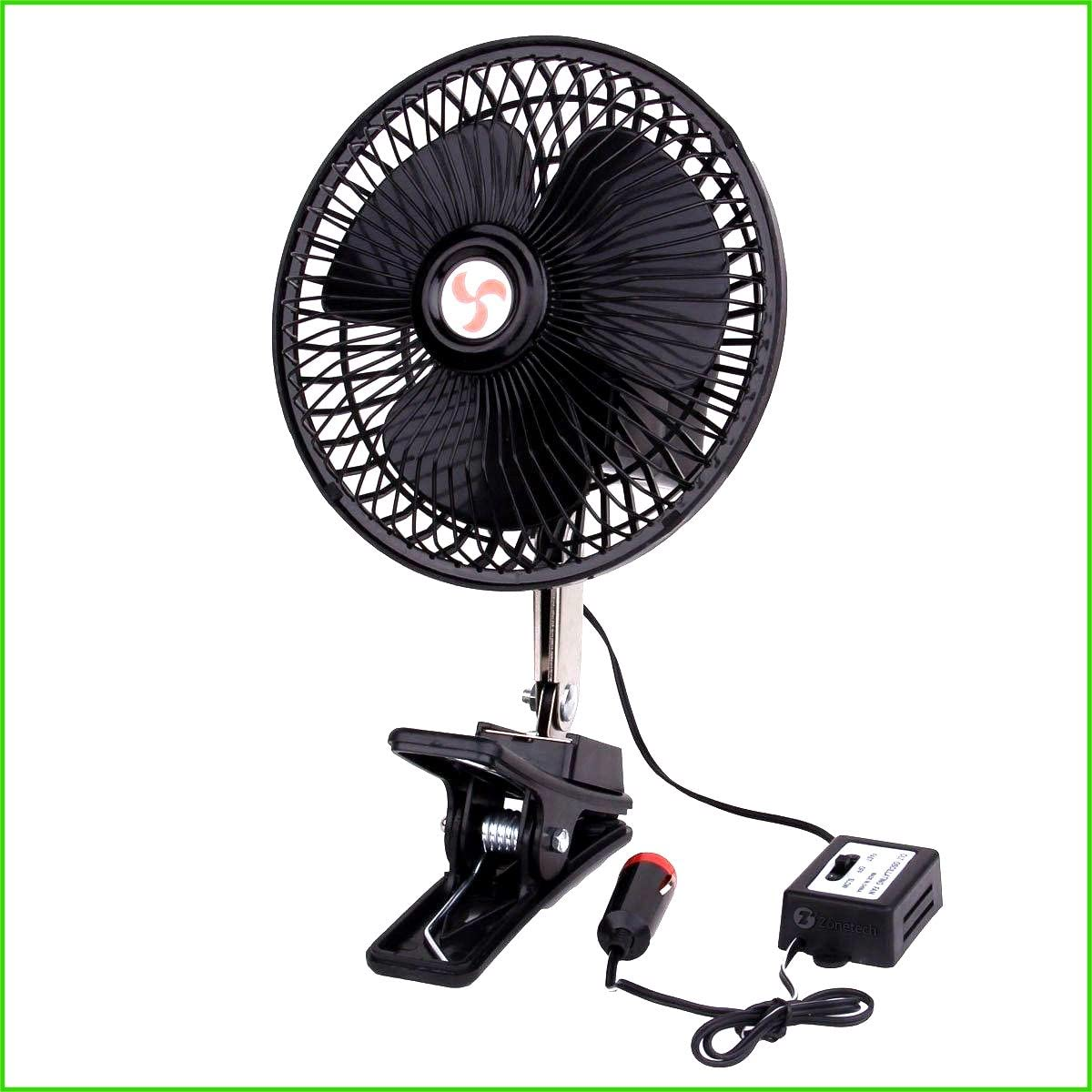 House Deals Vehicle Portable Fan Car Truck Easy Attachment Cooling Clip System Dashboard Oscillating 12V