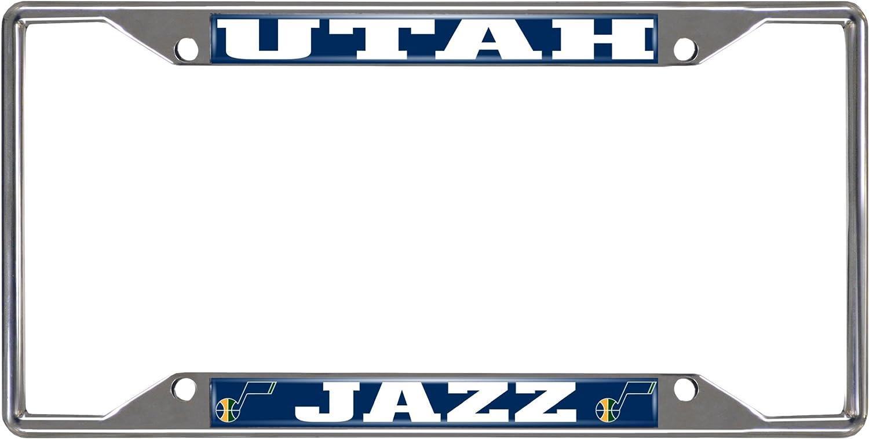 Fanmats NBA Utah Jazz Chrome License Plate Frame 6.25x12.25