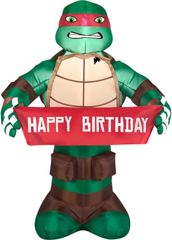Amazon Com Teenage Mutant Ninja Turtles 3 5ft Tall Raphael Happy