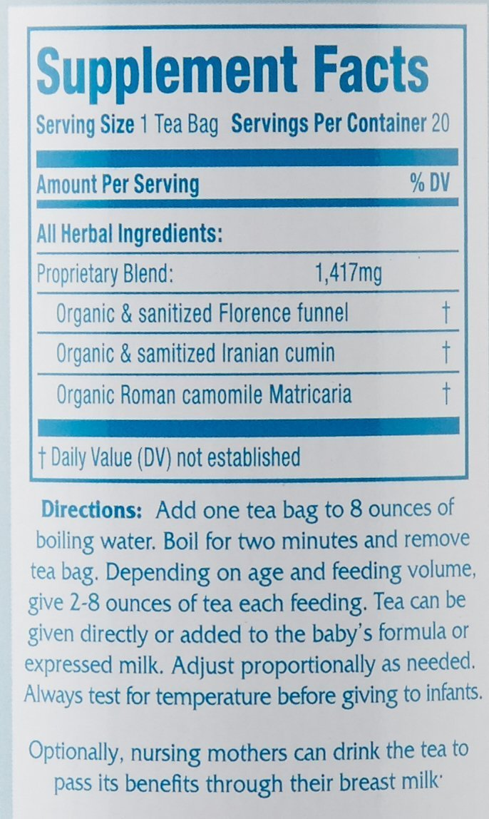 Secrets of Tea Baby Colic Babies' Magic Tea – Organic, Natural, Safe – Calming & Soothing Relief for Baby Acid Reflux, Gas, Colic – Your Baby Will Sleep Thru the Night Guaranteed – 5 Pack