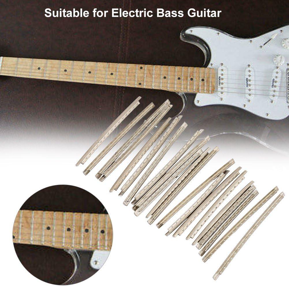 Alomejor Copper Fret Wires 21Pcs Guitar White Copper Fret Wires Fretwire Set for Electric Guitars