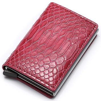 zhengao Duradero Mini Bloqueo RFID Billetera Tarjeta Crédito ...