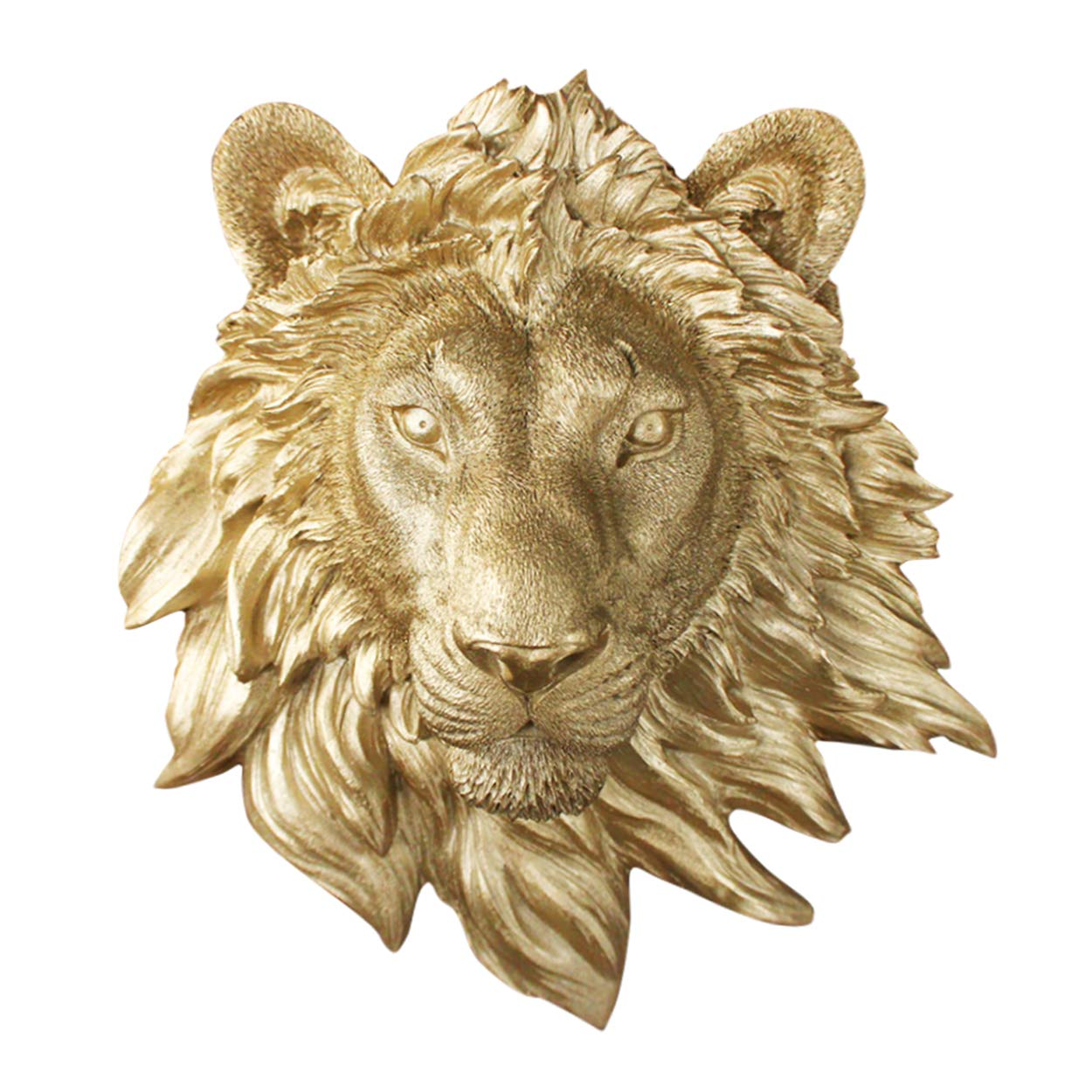Wall Charmers Mini Faux Lion Head | The Saharan Room Decor Wall Art| Hand finished Home Decor, Farmhouse Decor, Bedroom Decor, Bathroom Decor, Office Decor Rustic Wall Decor Rustic Home Decor Accents