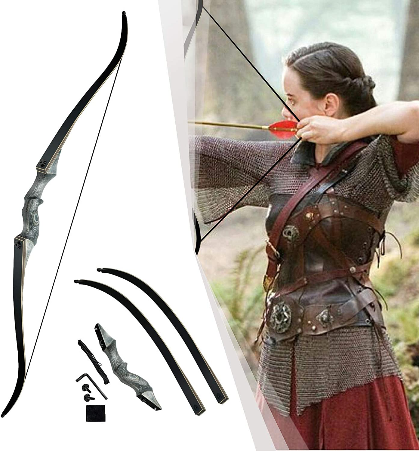 TRADITIONAL ARCHERY LONGBOW RECURVE TAKEDOWN BOW TIP PROTECTOR BEAVER TAIL HIDE!