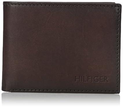 c26afe3983 Tommy Hilfiger Men's Bergen Pass Case Billfold Wallet, Brown, One Size