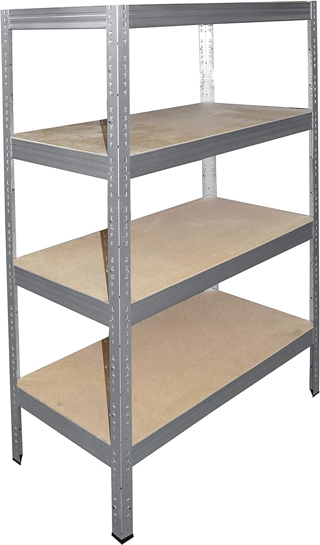 shelfplaza/® PRO /Étag/ère modulaire galvanis/é de 180x150x60 cm avec 4 tablettes capacit/é de 500 kg entrep/ôts garage grenier atelier maison
