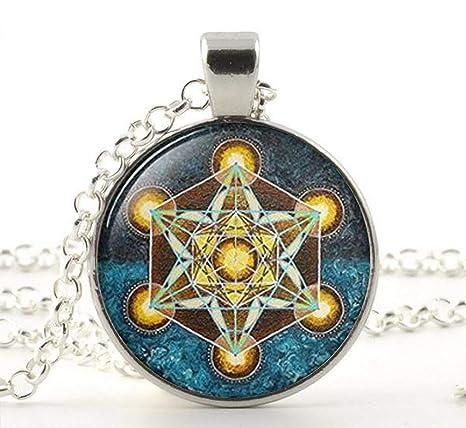 Metatron Cubo de colgante, con la geometría sagrada Jewelry ...