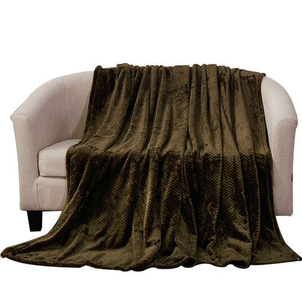 MYLUNE HOME Flannel Blanket Throws Quilt for Bedroom Living Rooms Sofa Full/Queen/King Size
