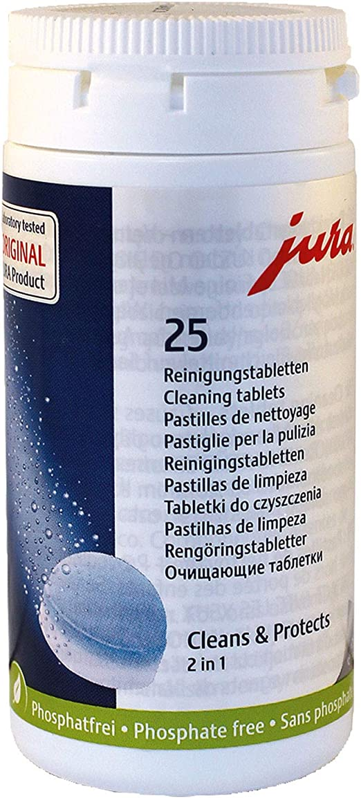 Jura 2 Phase Cleaning Tablets 25 Pack  for JURA fully automatic machines