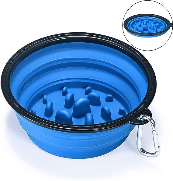 EAXBUX Portable Dog Slow Feeder Bowl