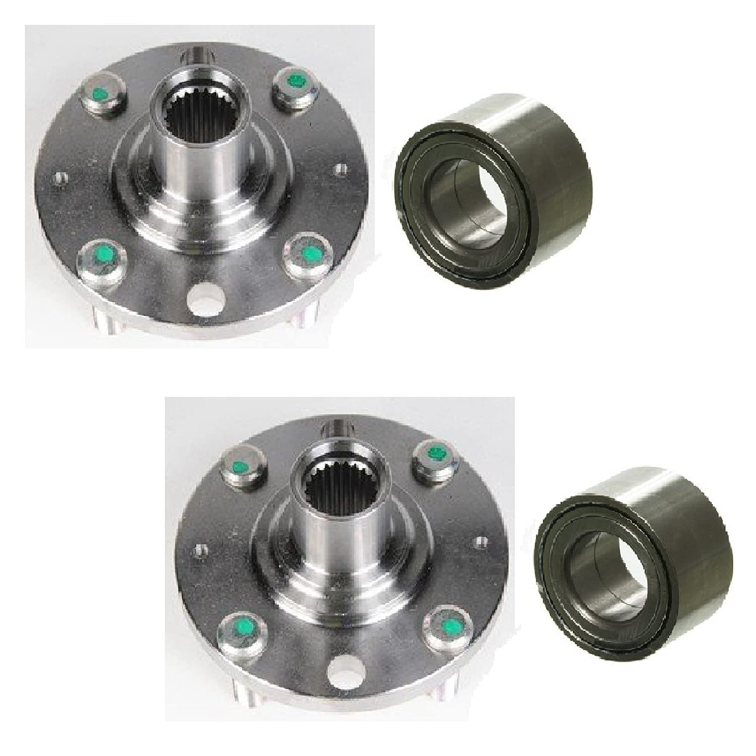 Pair Front Left And Right Wheel Hub Bearing Fit 2007 Chevy Aveo Ls Fuel Filter 2008 Chevrolet Aveo5 Automotive