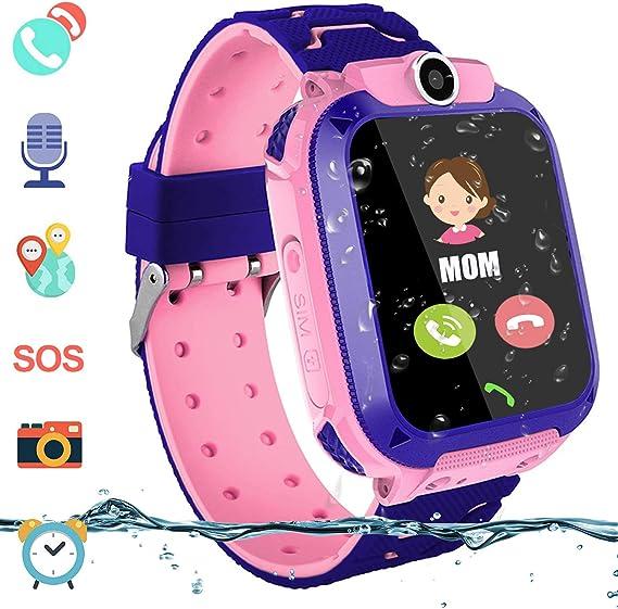 Amazon.com: Reloj inteligente con GPS para niños y niñas ...