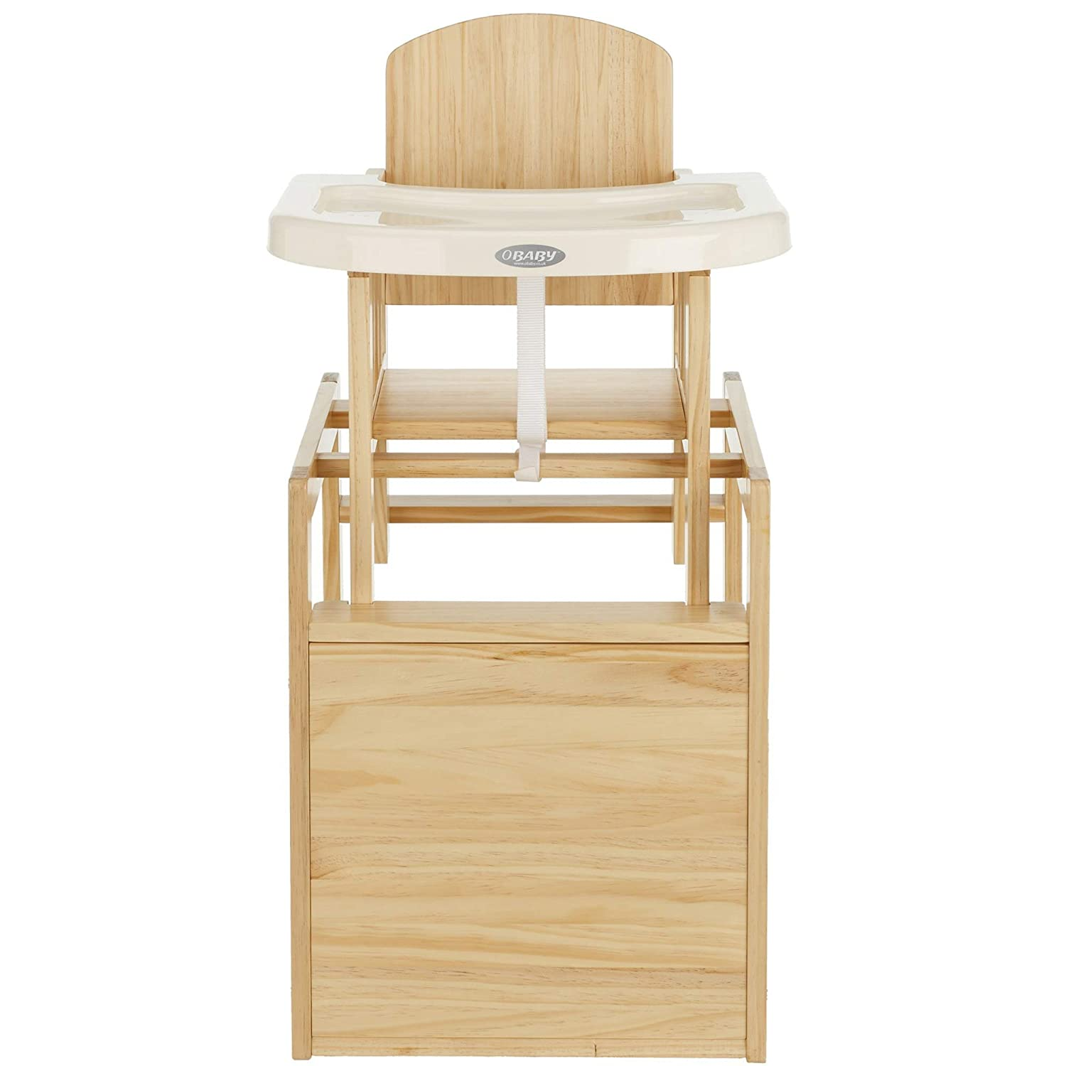 Obaby Cube Wooden Highchair Natural Amazon Baby