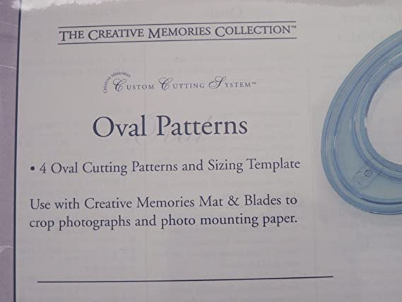 Amazon.com: Creative Memories Collection Cutting System - OVAL PATTERNS - NIP supplier:suzycn