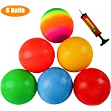 Ogrmar 6PCS 8.5 Inch Playground Balls Dodgeballs with 1 Hand Pump for Kids and Adults Dodge Ball, Kickball, Handball…