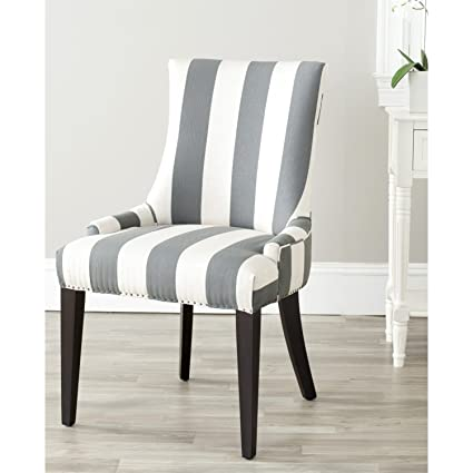 Amazoncom Safavieh Mercer Collection Eva And White Striped Dining