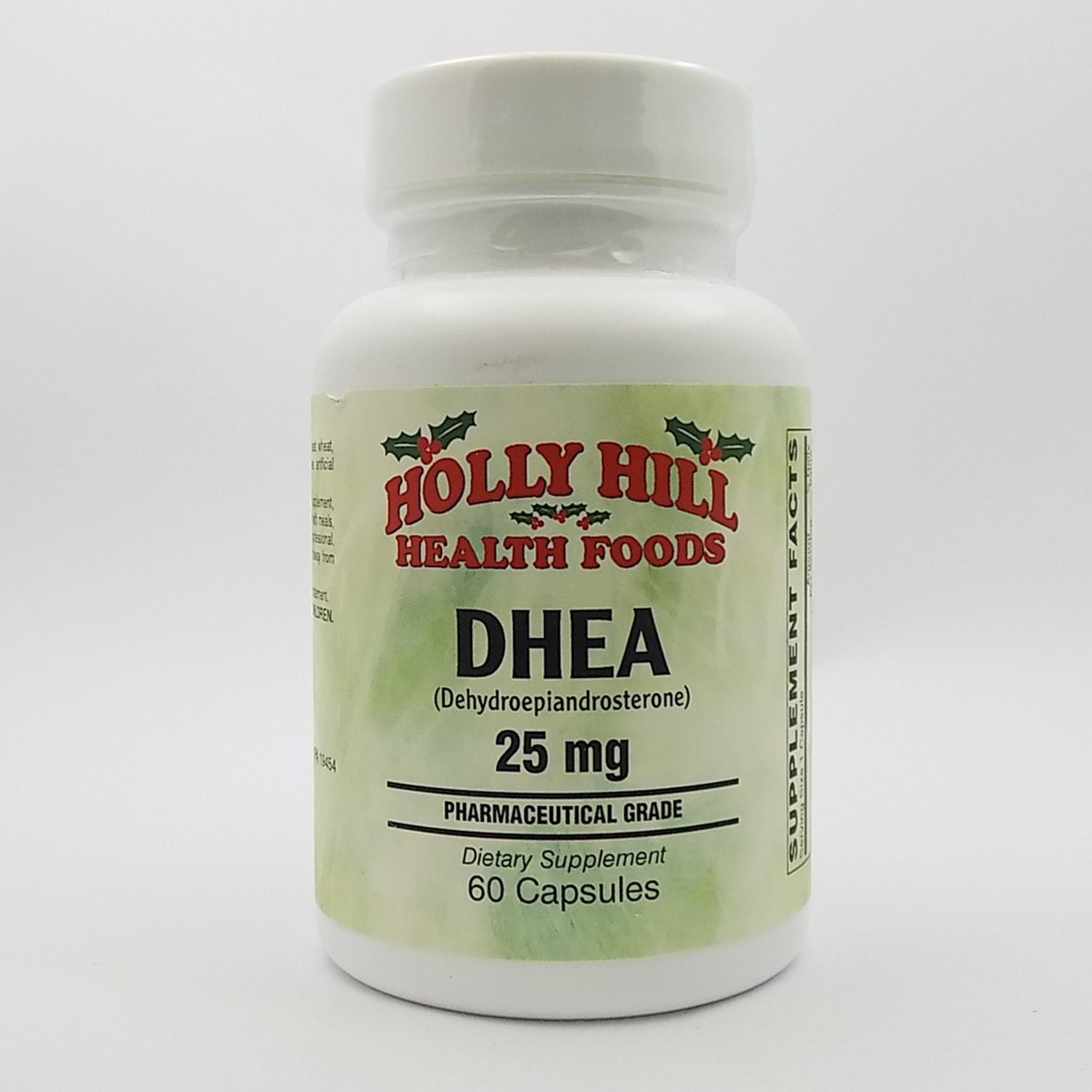Holly Hill Health Foods, DHEA 25 MG (Pharmaceutical Grade), 60 Capsules